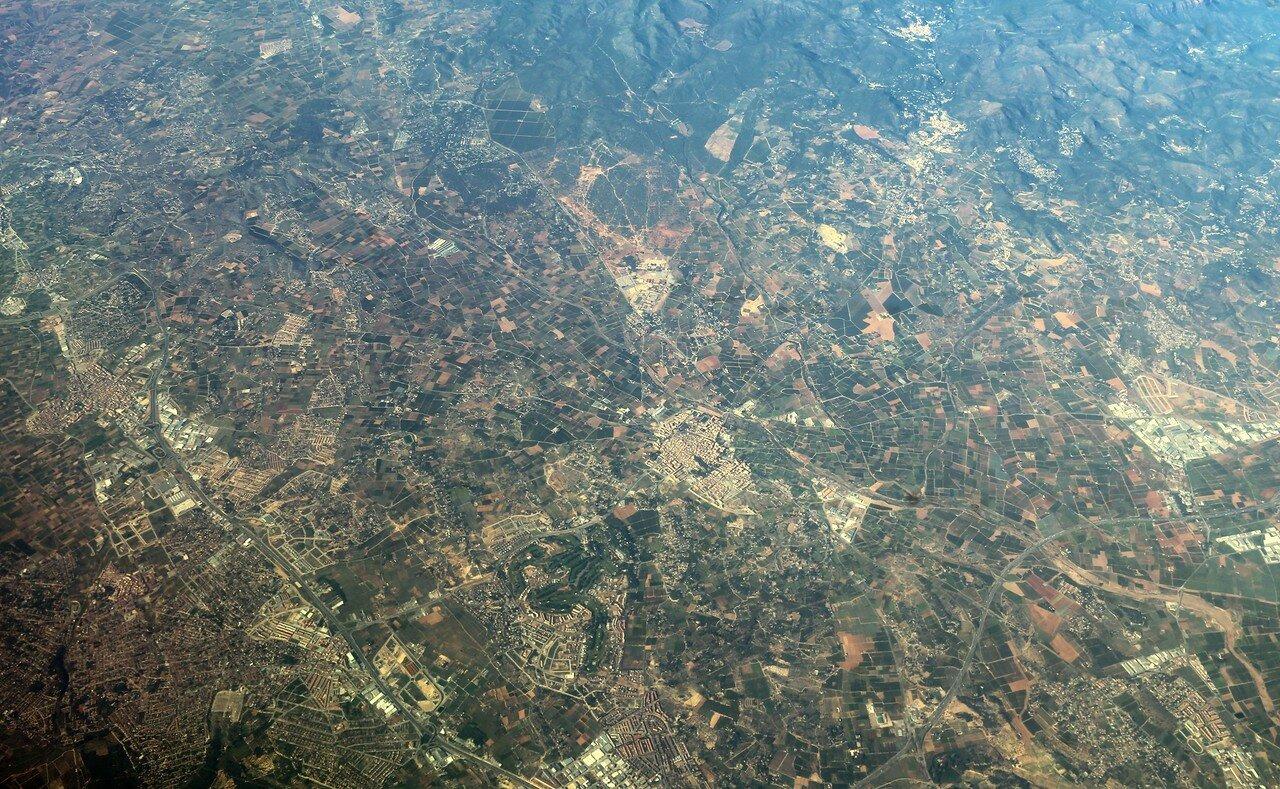 Валенсийская низменность, вид с самолета