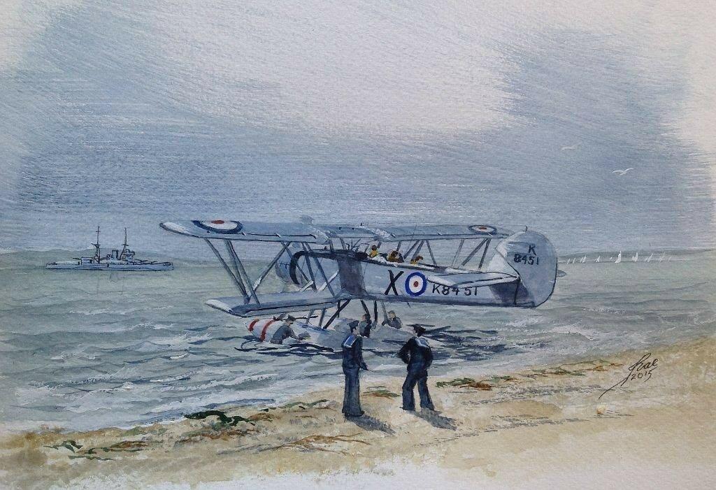 Blackburn Shark Mk 2. Beside the ramp at Lee on Solent.