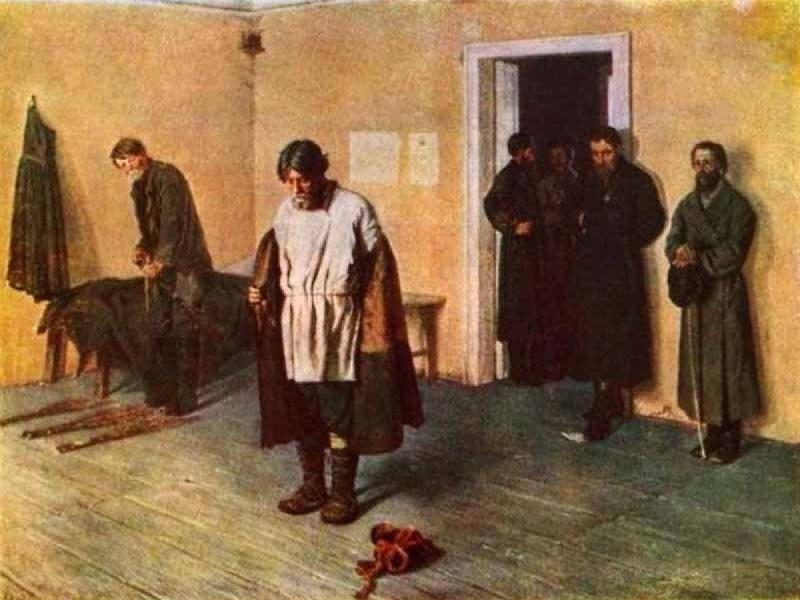 Фирс Журавлев — «Купеческие поминки» (1876 год) Застолье в разгаре, и часть гостей уже успела позабы