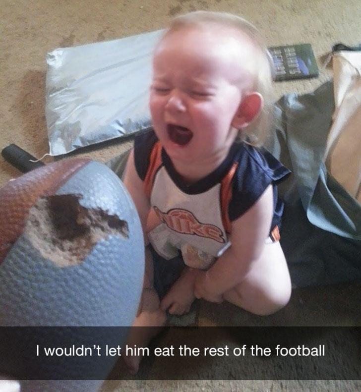 «Я не разрешил ему доесть футбольный мяч».