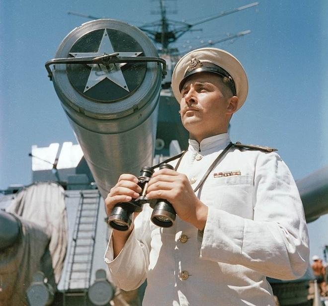 Линкор «Севастополь», 1952 год. Автор снимка не указан. В период боевых действий на Черном море линк