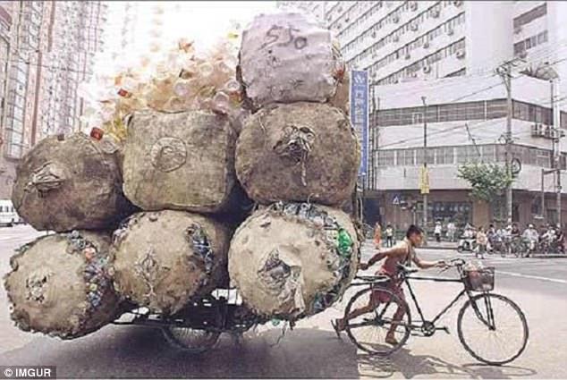 Этот парень явно не поместится на обычной велосипедной дорожке.