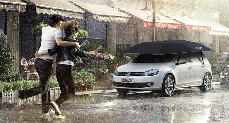 Компания Lanmodo презентовала универсальный имногофункциональный зонт для автомобиля