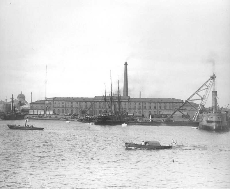 Вид Пароходного завода. 1900-1910 гг.