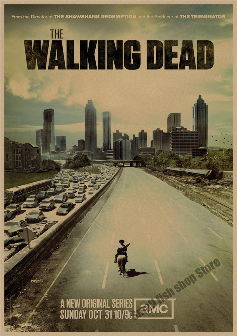Постеры в стиле ретро ходячие мертвецы
