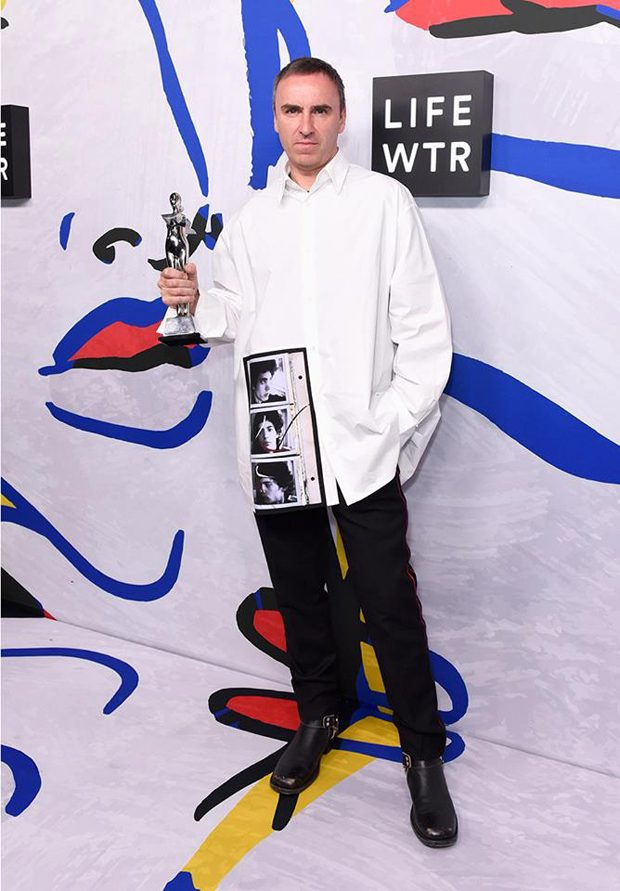 Raf Simons Won CFDA Awards for Womenswear and Menswear Designer of The Year