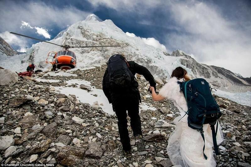 Свадебная церемония на Эвересте (фотографии)