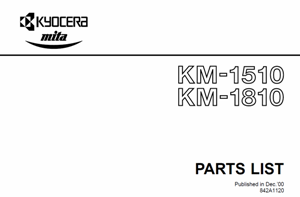service - Инструкции (Service Manual, UM, PC) фирмы Mita Kyocera - Страница 2 0_1382a2_de64db4f_orig
