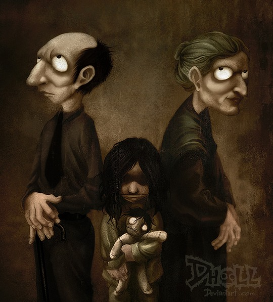 Creepy Illustrations by Dholl-Art