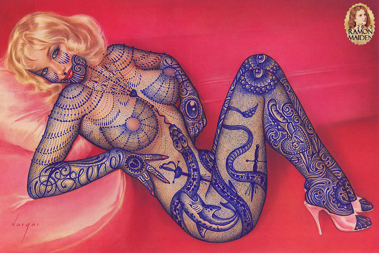 Tattoo Covers – Un artiste dessine des tatouages sur de vieilles photographies (23 pics)
