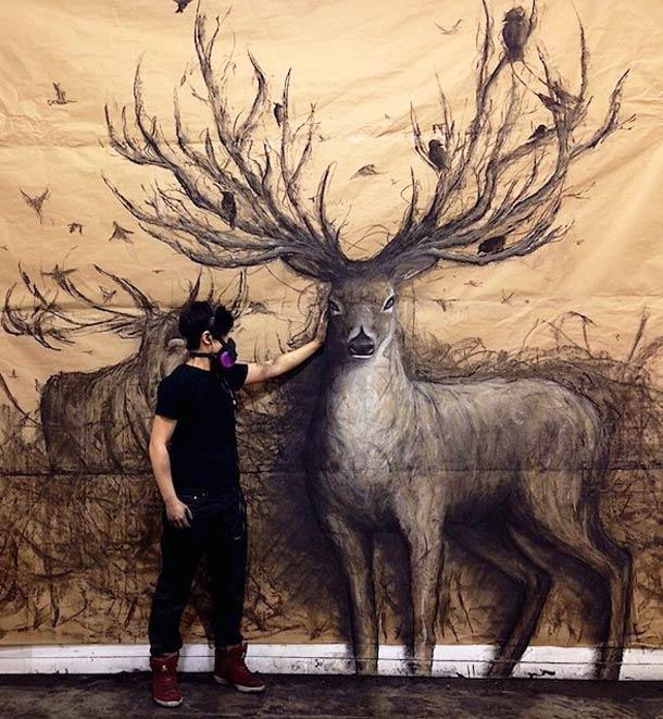 Quand l'artiste Fiona Tang dessine des animaux au relief impressionnant !