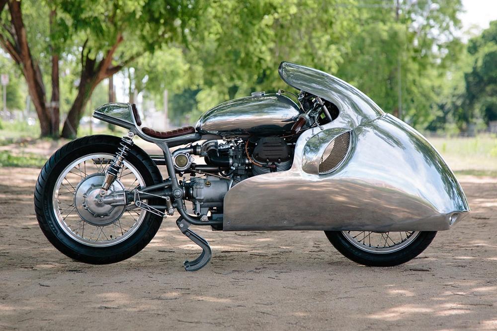 Крэйг Родсмит: Заряженный кастом Moto Guzzi Dustbin Racer