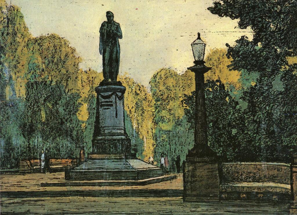 587172 Чистопрудный бульвар. Памятник А. С. Грибоедову.jpg