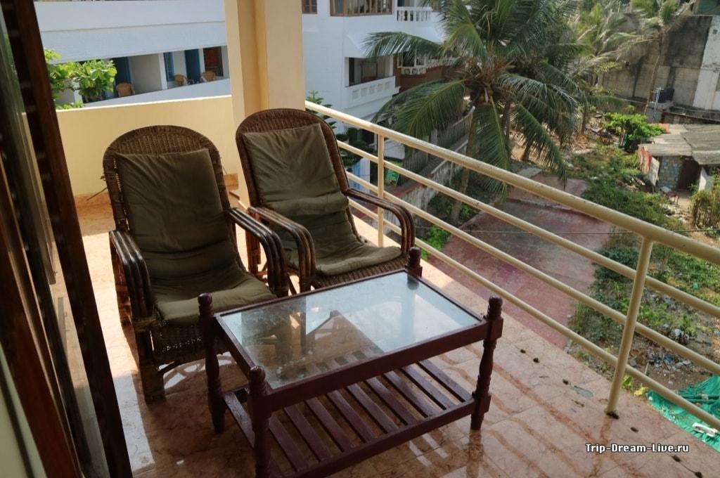 Балкон в нашем номере