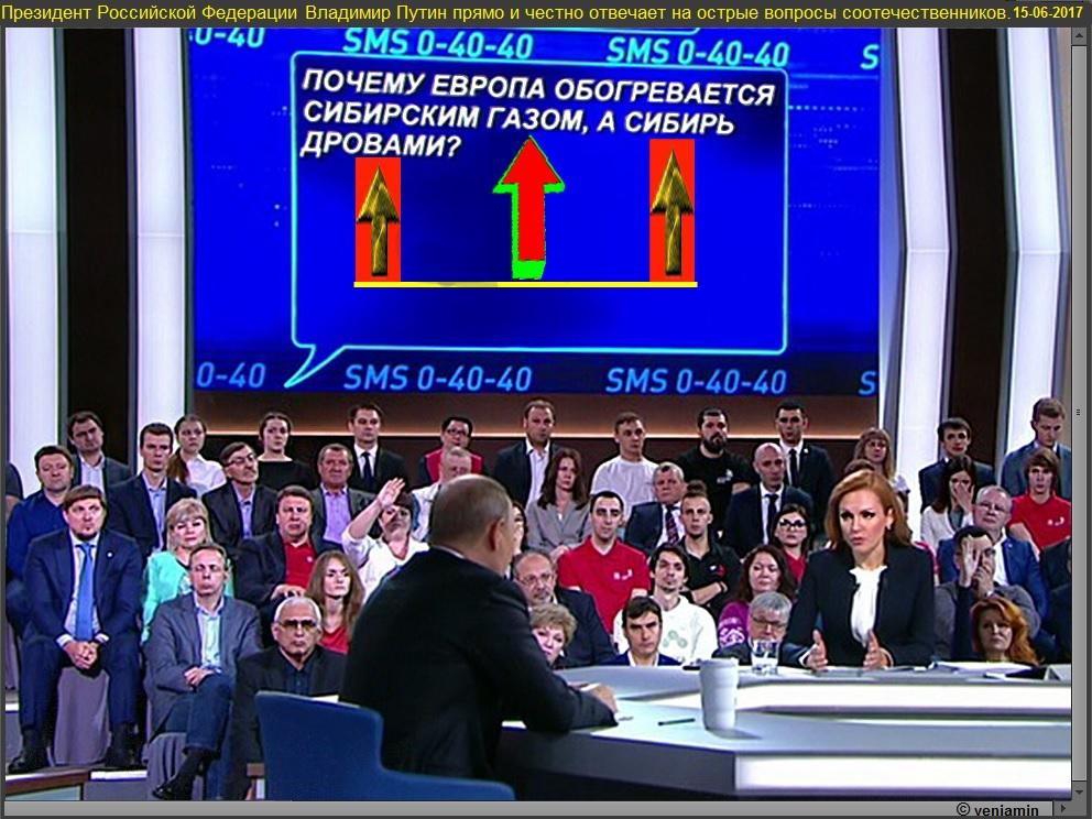 Президент РФ Владимир Путин прямо и честно отвечает на вопросы соотечественников, 15 июня, 2017, ГОРДОН. рамка
