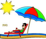 on the beach vector Graphics
