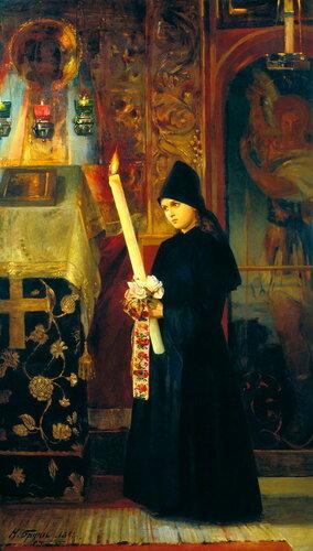 Подборка живописи Монахини в живописи