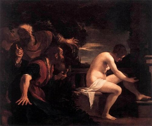 Guercino (Giovanni Francesco Barbieri) Сусанна и Старцы