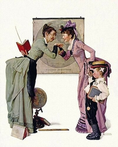 Norman Rockwell First Day of School