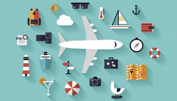 Открытка. День туризма. Стилизованная открытка