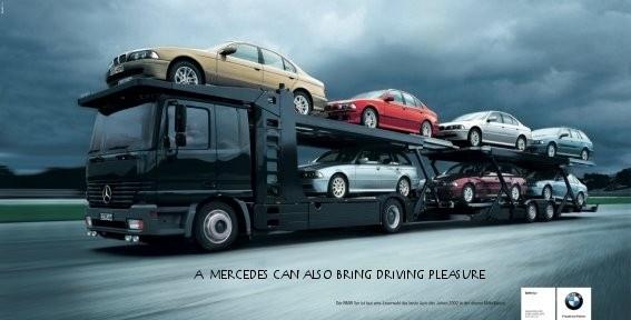 Mercedes тоже может доставлять удовольствие отвождения  Россия Ксожалению, вРФ рекламные войны