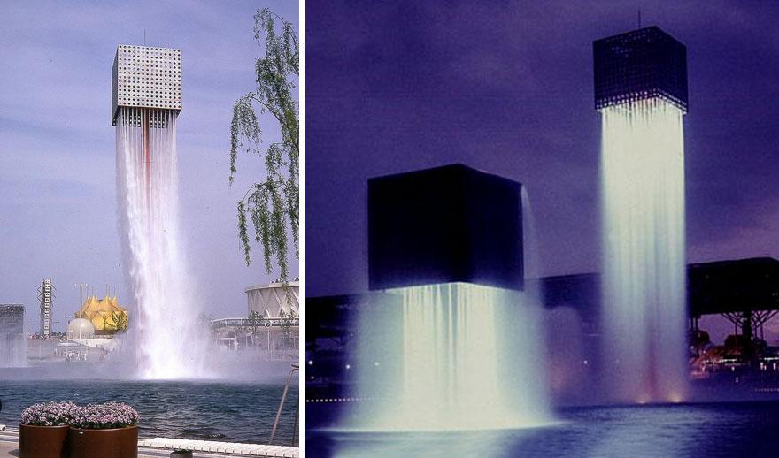 «Девять парящих фонтанов» — проект японо-американского архитектора Исаму Ногути для Всемирной выстав