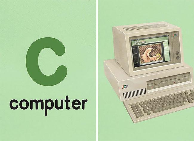 C — computer (компьютер).