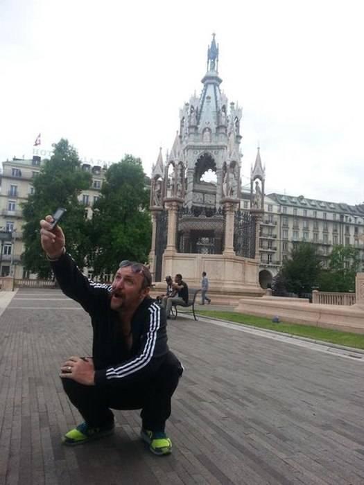 """Прикольная фотосессия """"Отпуск в Европе"""""""