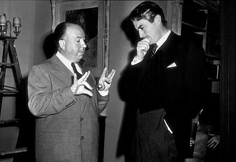 15. С Грегори Пеком на съемках фильма «Дело Парадайна», 1947 год.