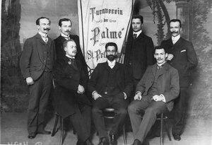 Группа преподавателей и руководителей Гимнастического общества Пальма