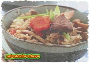Рис с побегами бамбука