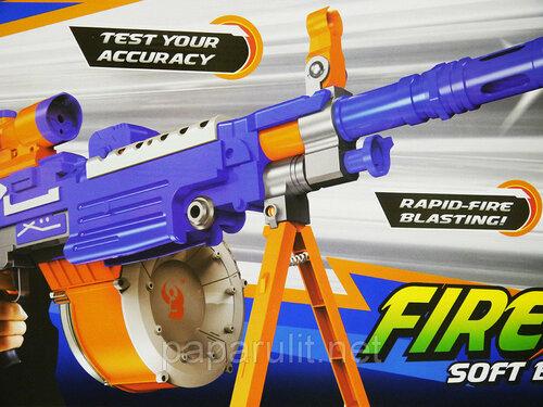 пулемёт Fire Storm 7006 c мягкими пулями и лазерным прицелом