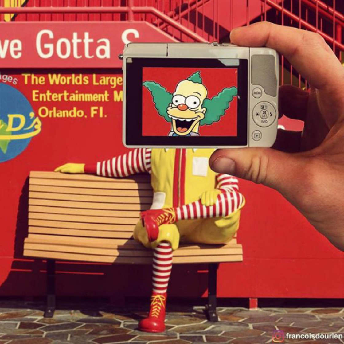 The Simpsons are invading our daily life with a simple iPhone