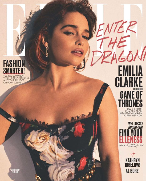 Emilia Clarke is the Cover Star of Elle Magazine August 2017 Issue (6 pics)