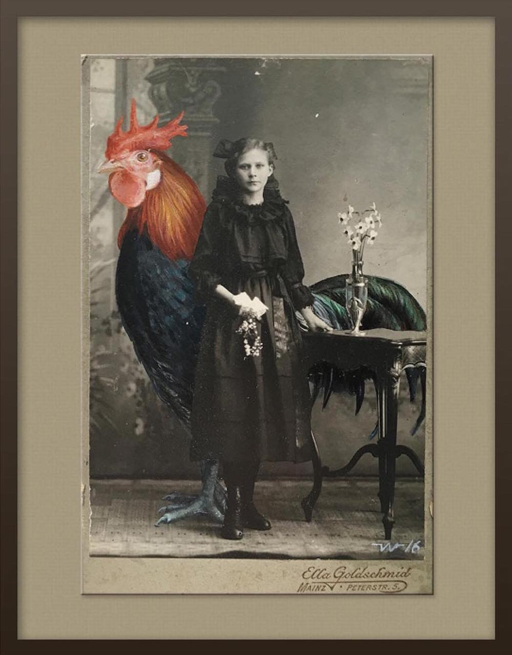 Oversized Oil Paintings of Animals in Vintage Photographs