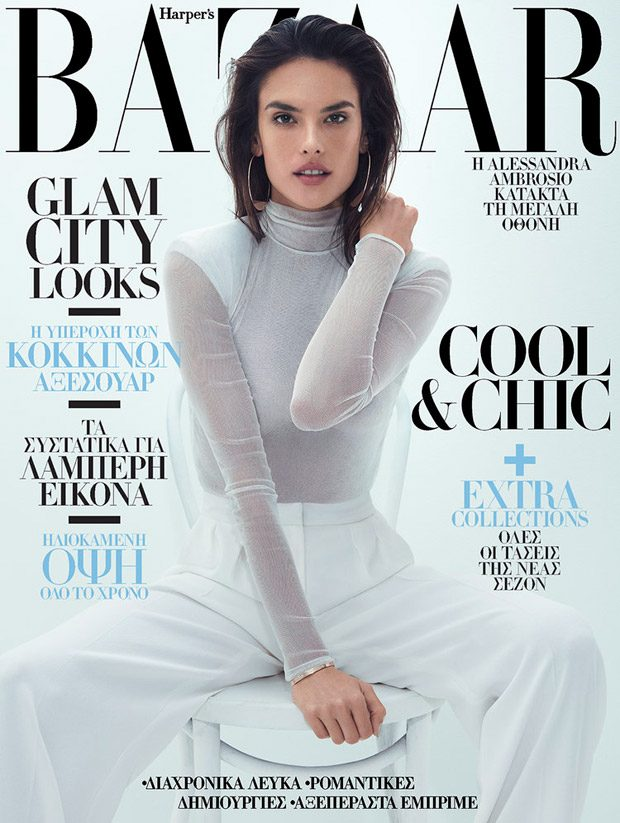 Supermodel Alessandra Ambrosio takes the cover story of Harper's Bazaar Greece 's August 2017