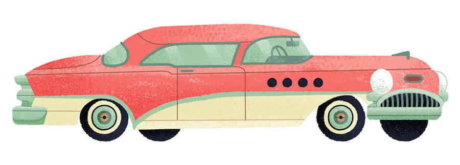 Stylish Illustrations of Classic Automobiles by Studio MUTI