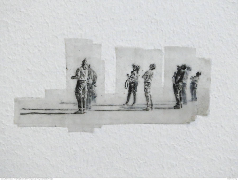 Marvelous Pencil Drawings on Transparent Adhesive Tape