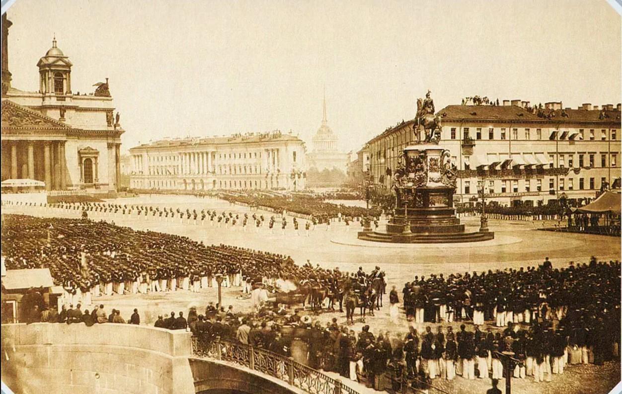1857. Открытие памятника императору Николаю I
