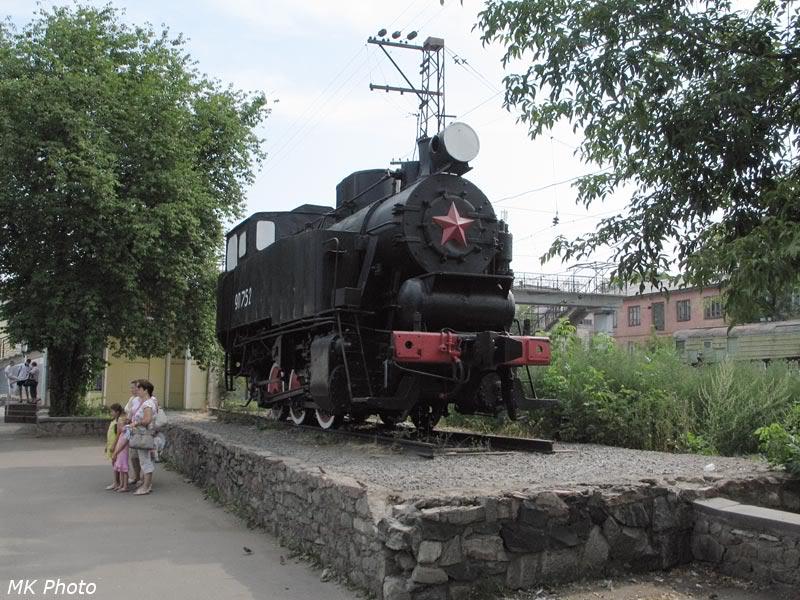 Маневровый паровоз-памятник 9П номер 752