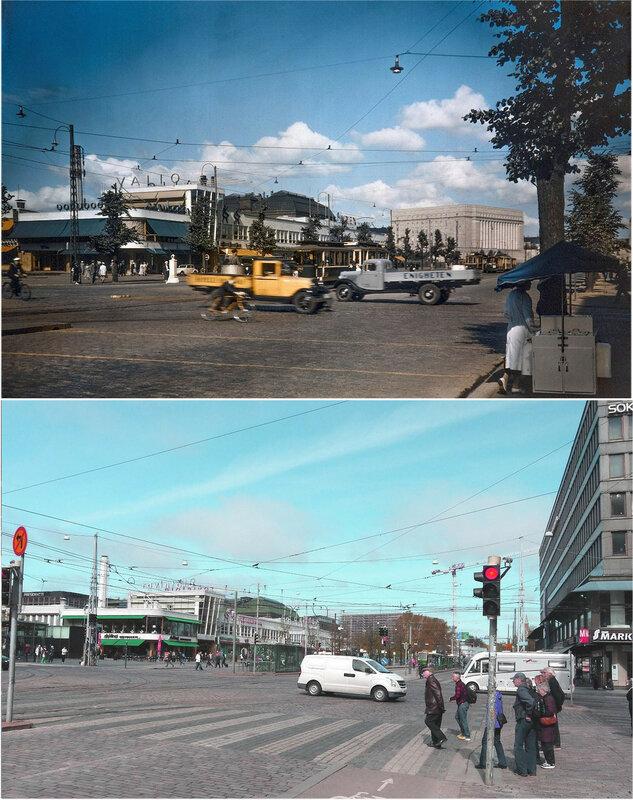 1939 Helsinki Lasipalatsi vuonna 1939 ja 2015.jpg