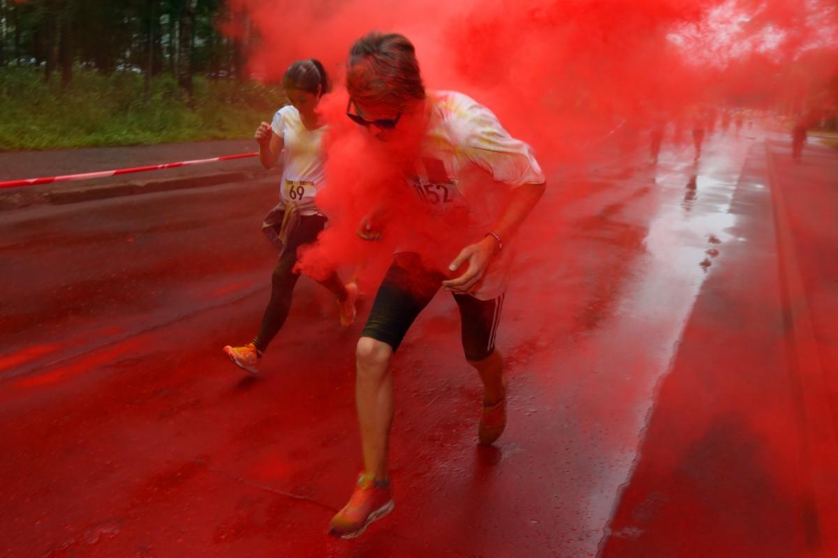 Красочный забег в Юрмале