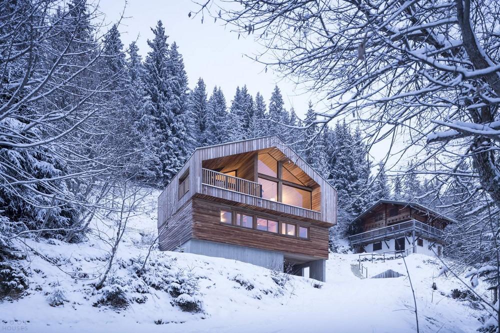 Горный домик в Альпах восточной Франции