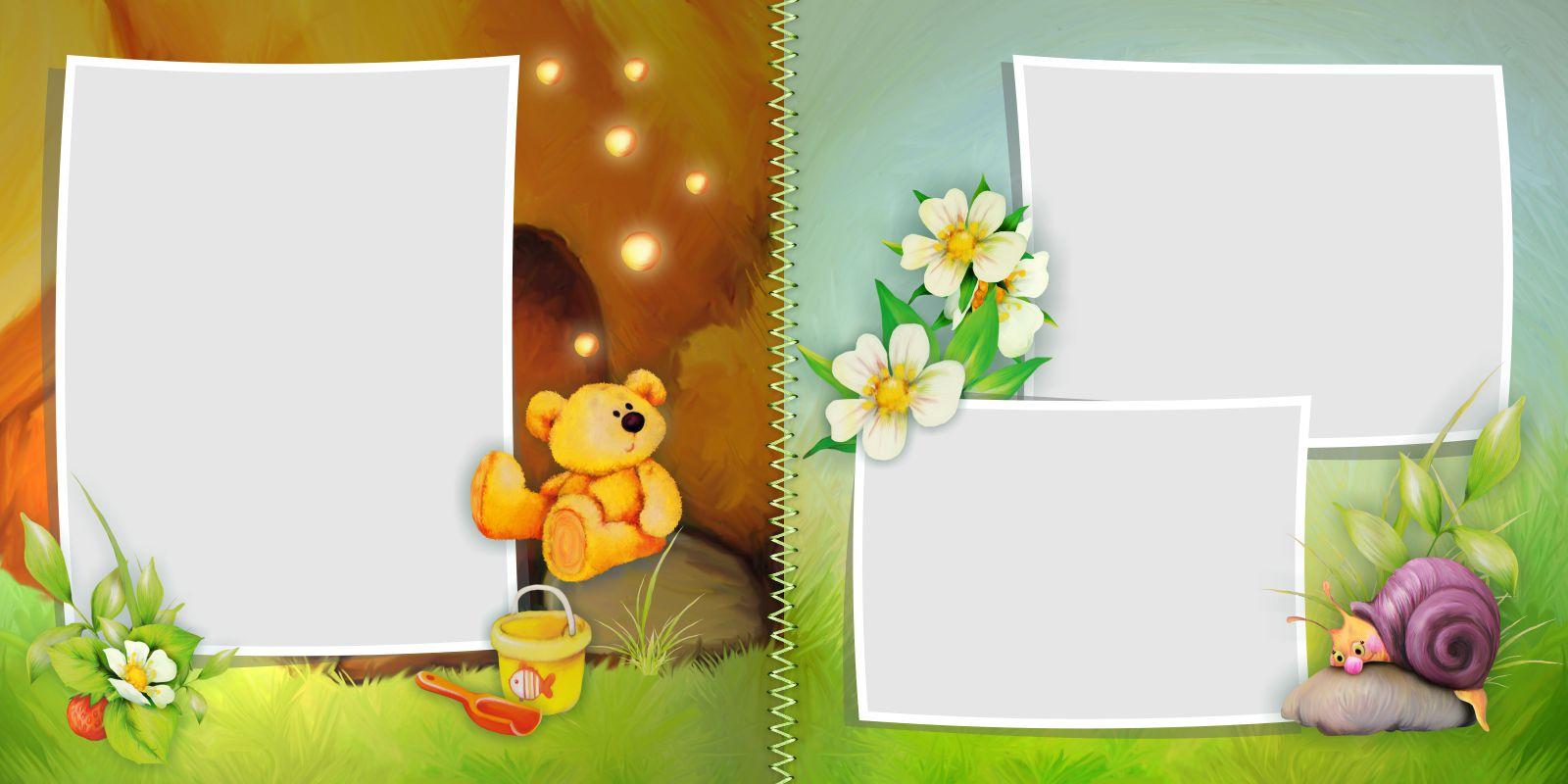 шаблон летней фотокниги для ребенка