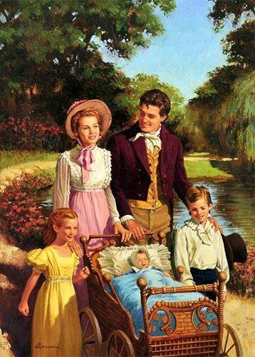 Family Stroll By Robert Berran