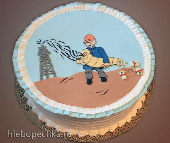 Торт на день нефтяника!