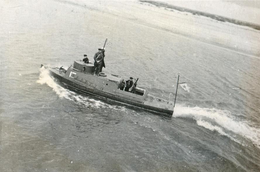 Днепровская военная флотилия на учениях КОВО 09.1935 г.