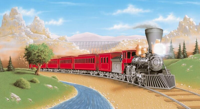 поезда для открыток если резко