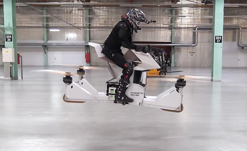 Первый летающий байк в мире от российского проекта Hoversurf