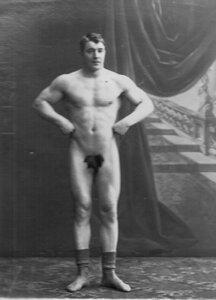 Портрет борца, участника чемпионата Хасселя.